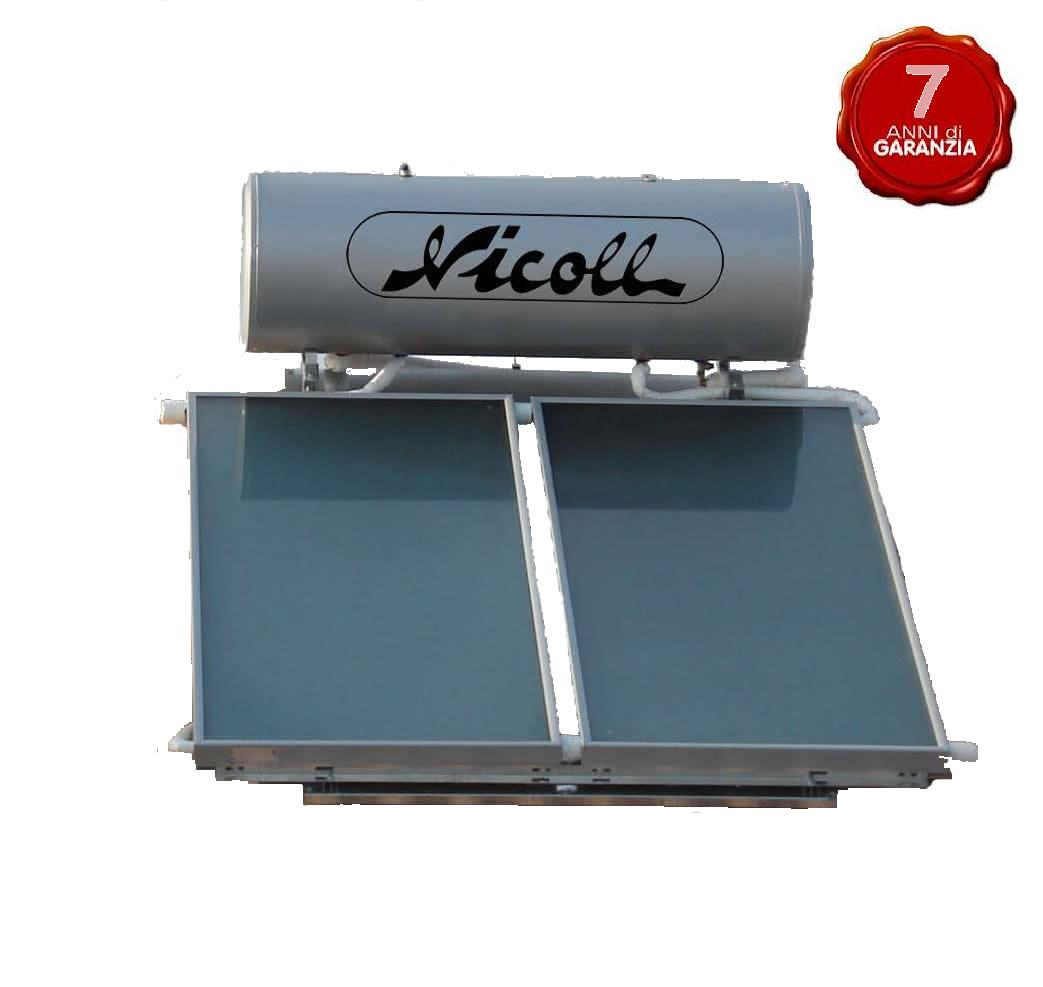 Kit Pannello Solare Circolazione Naturale : Kit solare nicoll circolazione naturale con boiler da