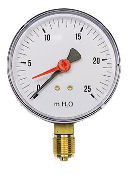 Manometro con attacco radiale 1 4 bar 10 for Scaldacqua a gas bricoman